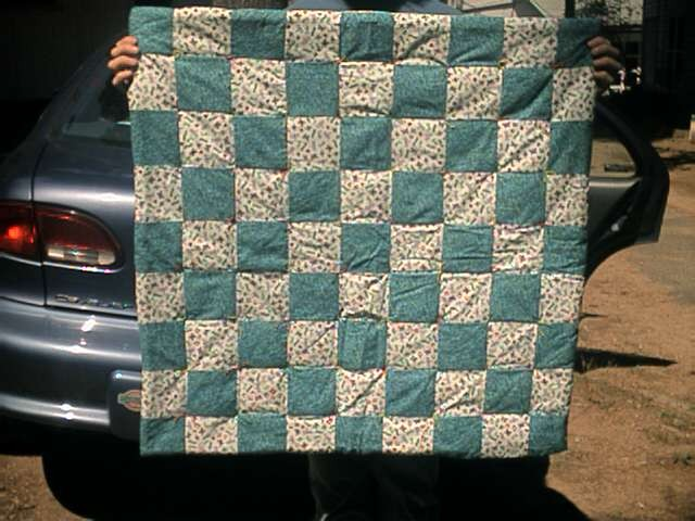 picture of a handmade quilt donated in 2001